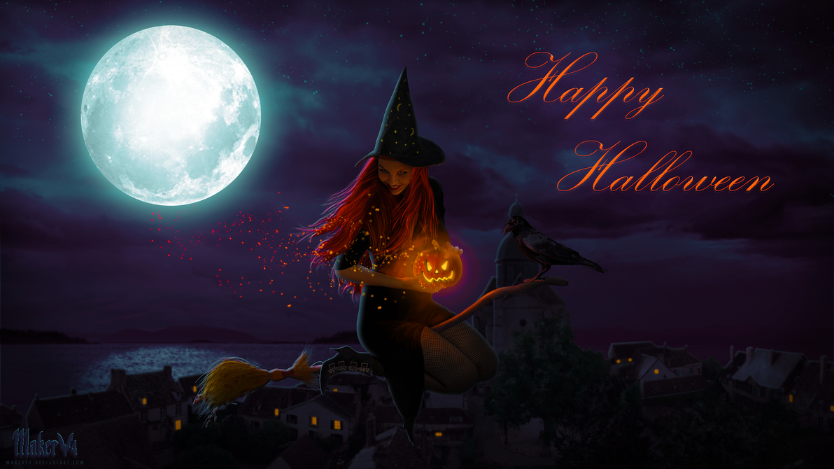 Broomstick And Pumpkin Dust by Makerva
