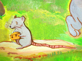 Mr.Mouse and his cheese by LinkOni