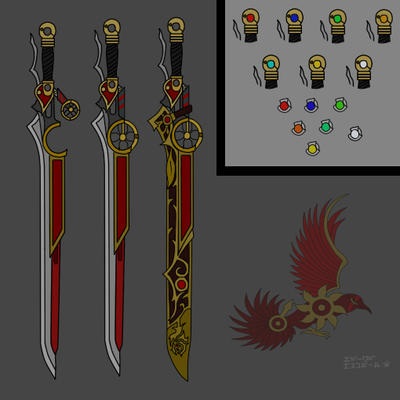 RWBY Mars Vulturs Feathered Rose By ShadeofGrimm On