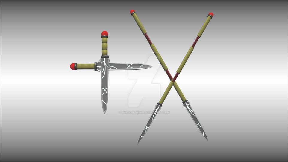 RWBY OC Weapon - Mars Oreamnos' R+R [Commission] by