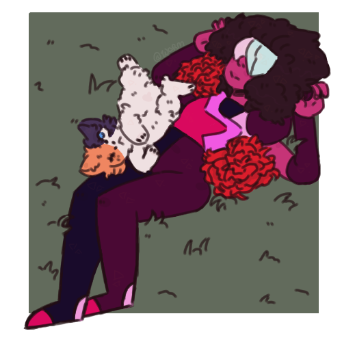 Garnet and Cat Steven // Steven Universe // 3/26/18