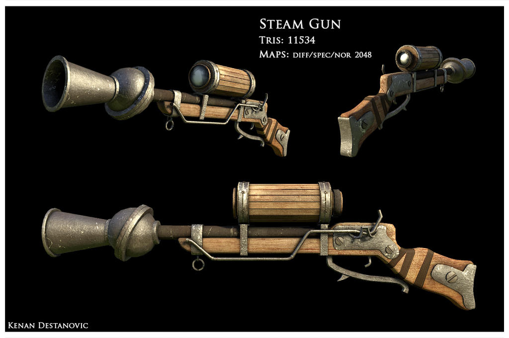 Steam Gun by kenetand2