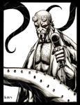 Hellboy Inkwash