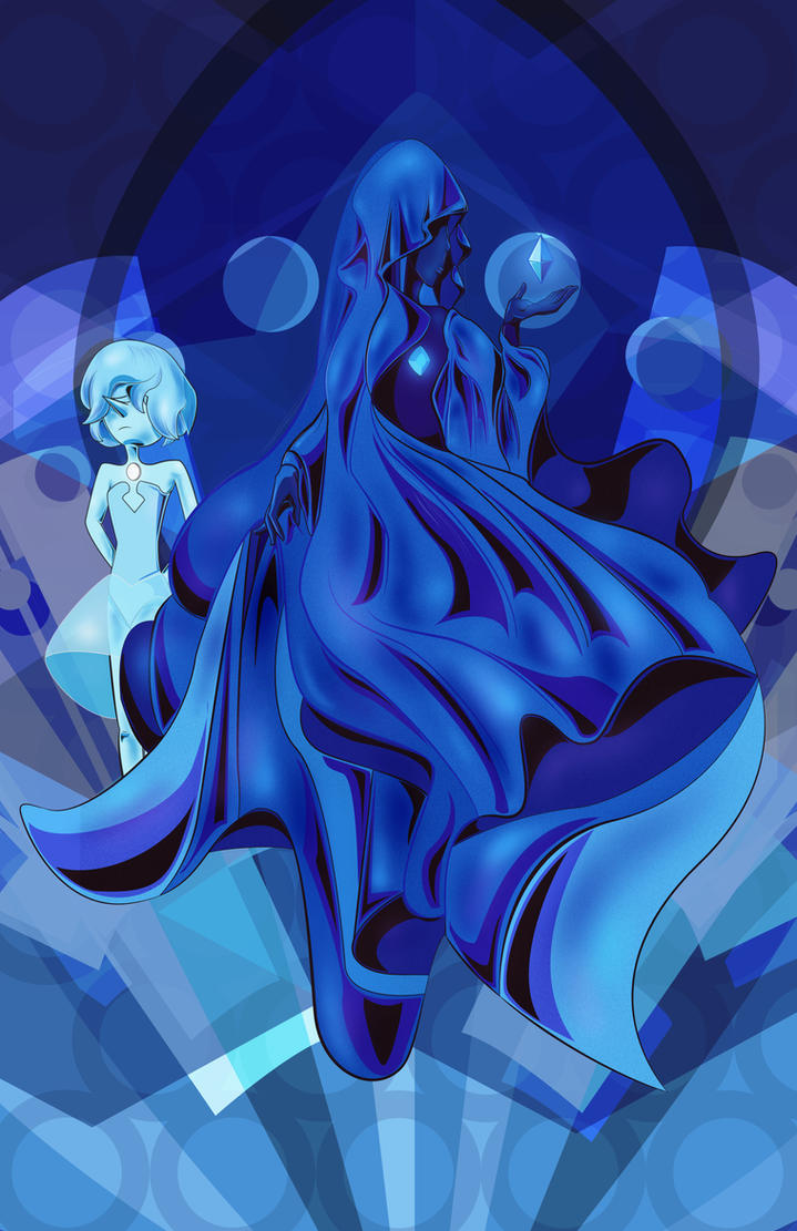 Blue Diamond and her Pearl. I've been waiting a long time to get a glimpse at the Diamonds and now we have seen Blue Diamond at last! The new Steven Bomb has given the fanbase even more gem goodnes...