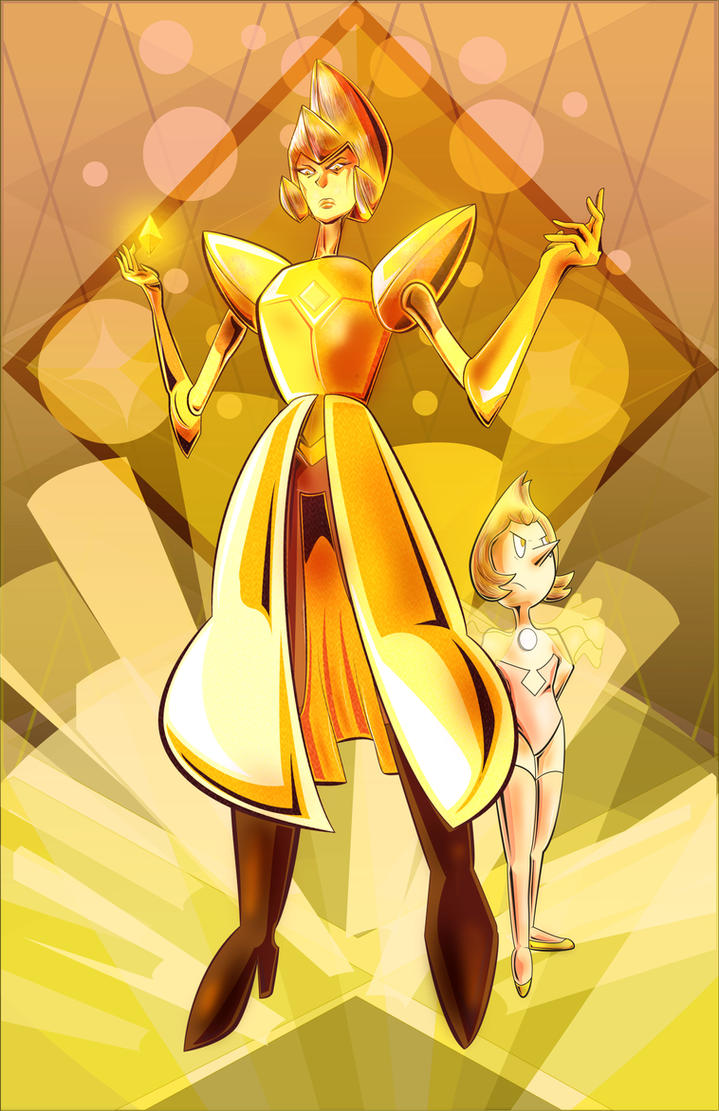 Yellow Diamond and her Pearl. First of all, Congrats Peridot for sticking it to The Man! So many of us wish we could tell our boss off at work on many occasions. Anyways, I'm so glad Yellow Diamond...