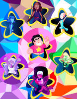 We are the Crystal Gems! by Mariolord07