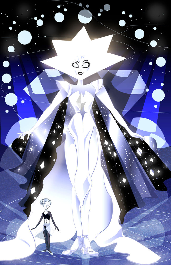 Finally! At long last! White Diamond is real! She exists after all!- and my goodness, she is radiant and stunning! Aside from that she is imposingly TALL! No wonder Blue and Yellow fear her! It's b...