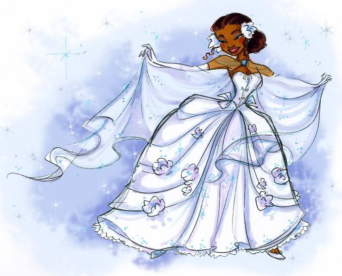 Tiana Wedding Concept Sketch by papayabanana on DeviantArt