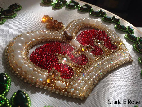 Queen Esther WIP  - Applique Crown by xxxStarlaxxx