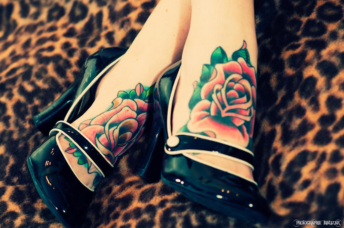 Rose tattoo by thauzar