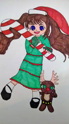 Santa girl by bubblebear79