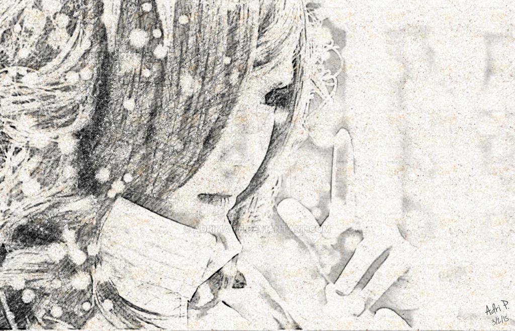 Myrtle Digital Pencil Sketch by adrimarie