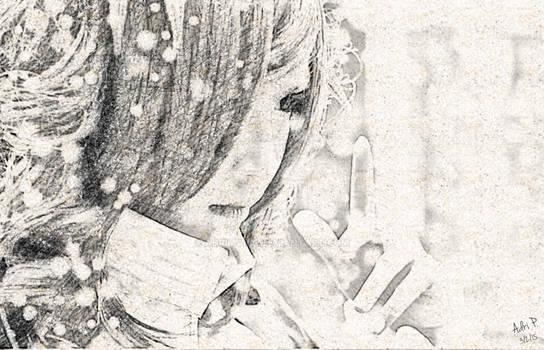 Myrtle Digital Pencil Sketch