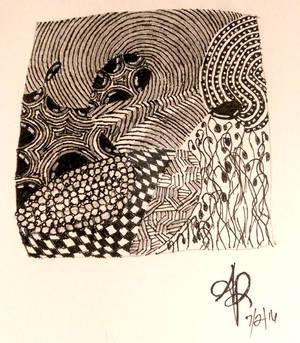 Practice Zentangle Tile