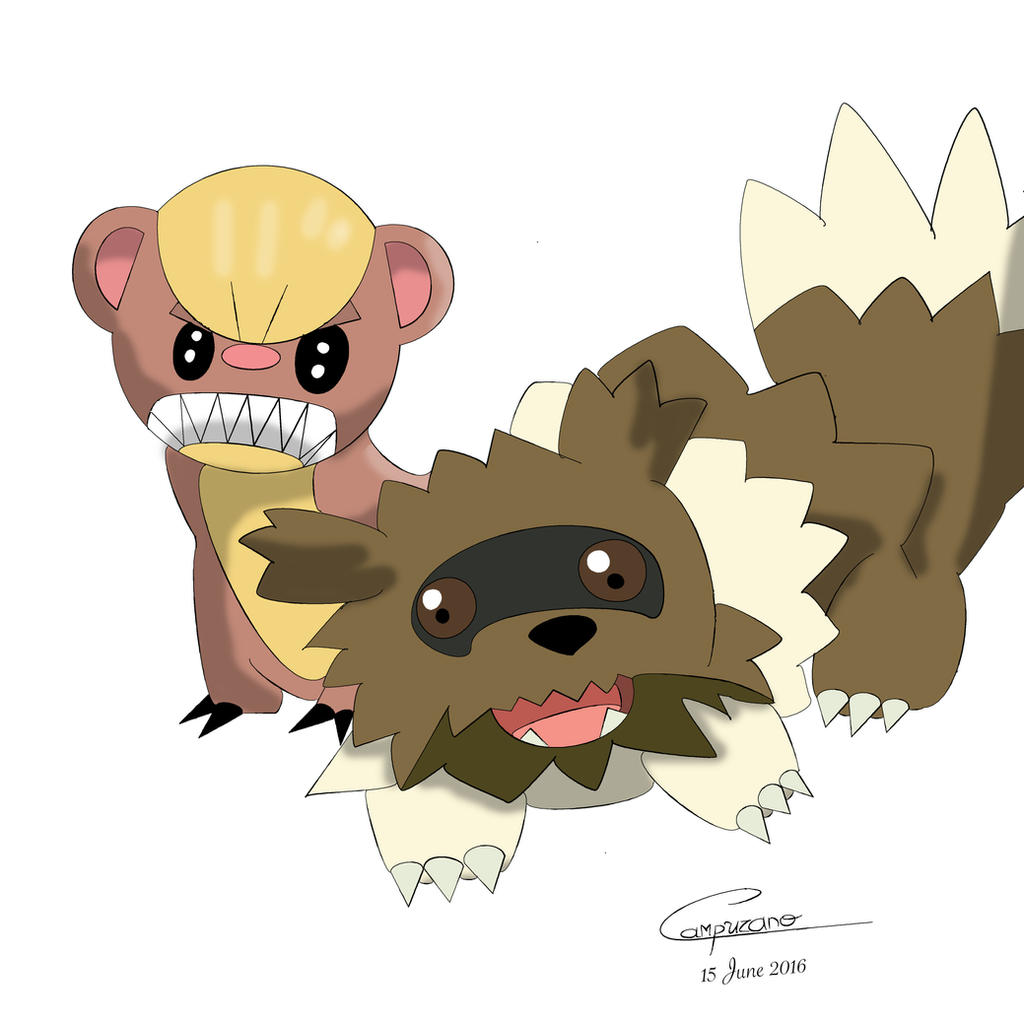 yungoos and zigzagoon by blackaquali on deviantart