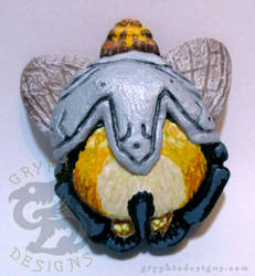 Armored Bumble Bee Butt Magnet