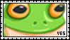 f2u frog stamp by vulpeh