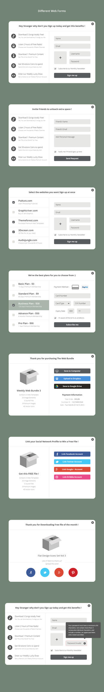 Different Web Forms by azyrusmax
