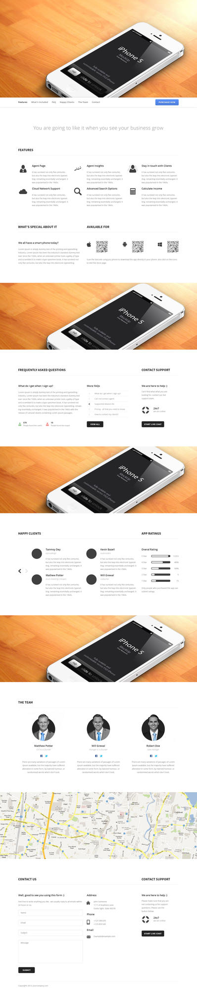 Mobile App Website by azyrusmax