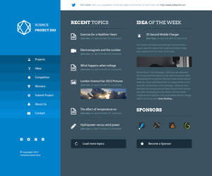 Science Project PSD Template