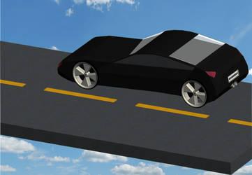 Carbon Fibre Car by madcat101