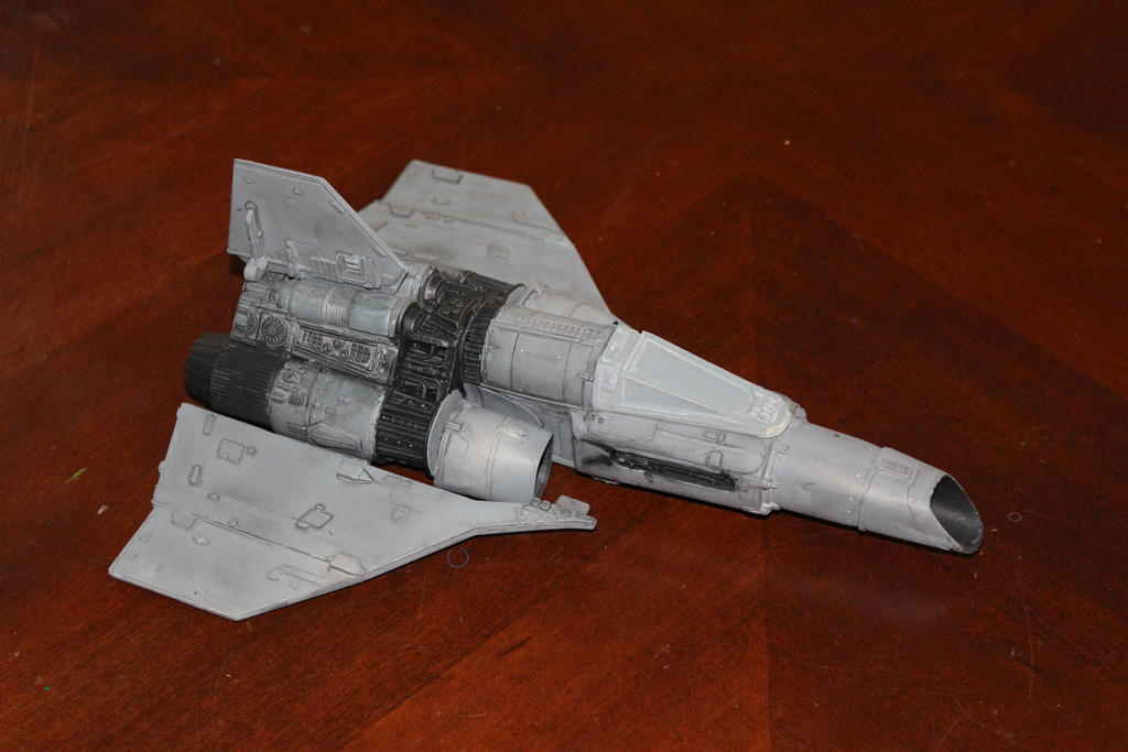 Caprica Mk 1 Colonial Fighter by dinobatfan
