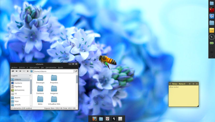 February 2012 XFCE Desktop by n3storm