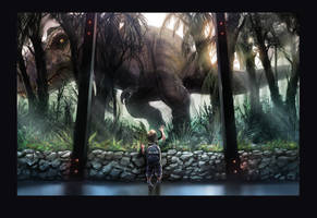 Jurassic World 'nostalgia' fan art by WEVART