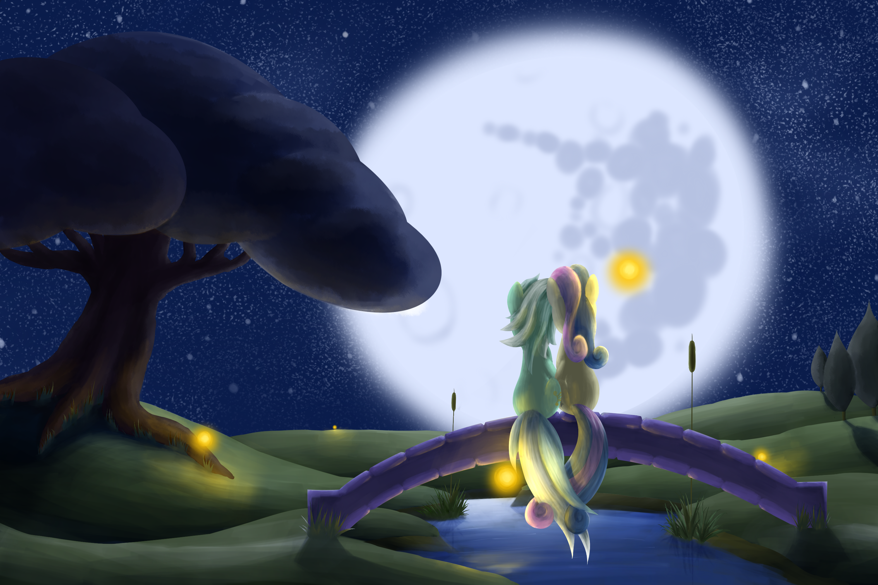 Moonlit Evening by Ilonis