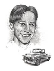 Portrait + Truck Commission