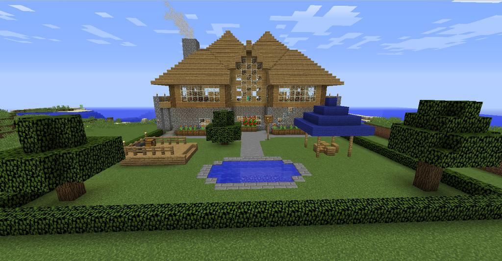 Minecraft House (Back Yard) by Herobrine2349 on DeviantArt