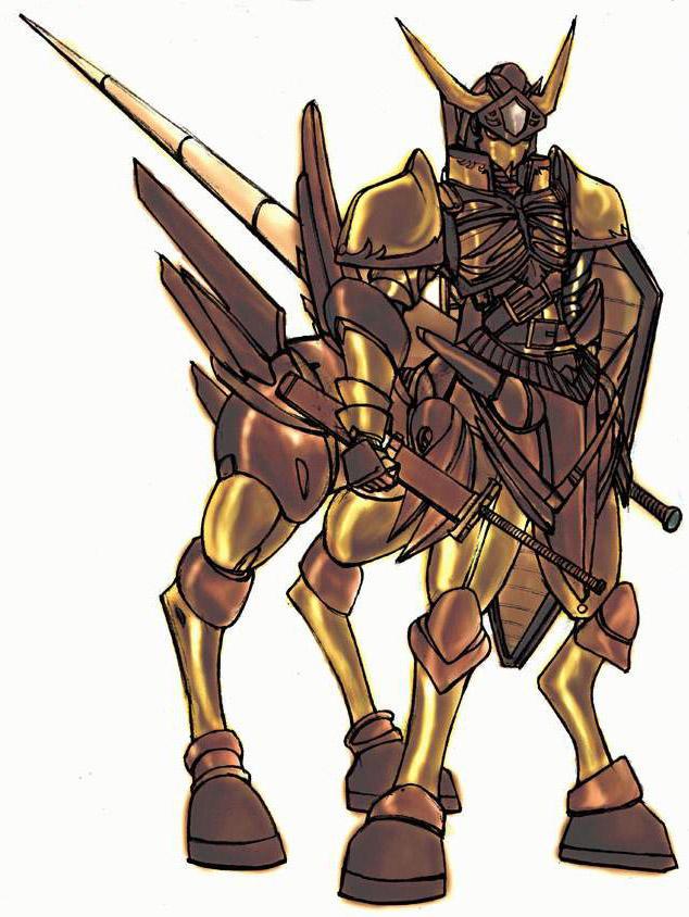Golden Armored Centaur by Raynear