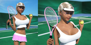 Chloe Plays Tennis by MrXenocide