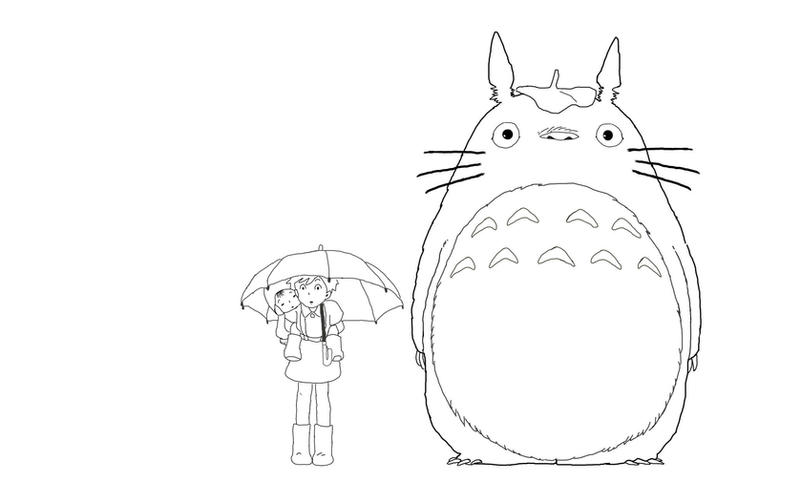 how to draw totoro smiling