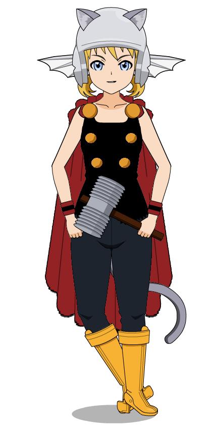 Abigail Blackthorn - Asgardian Catgirl by T1p2