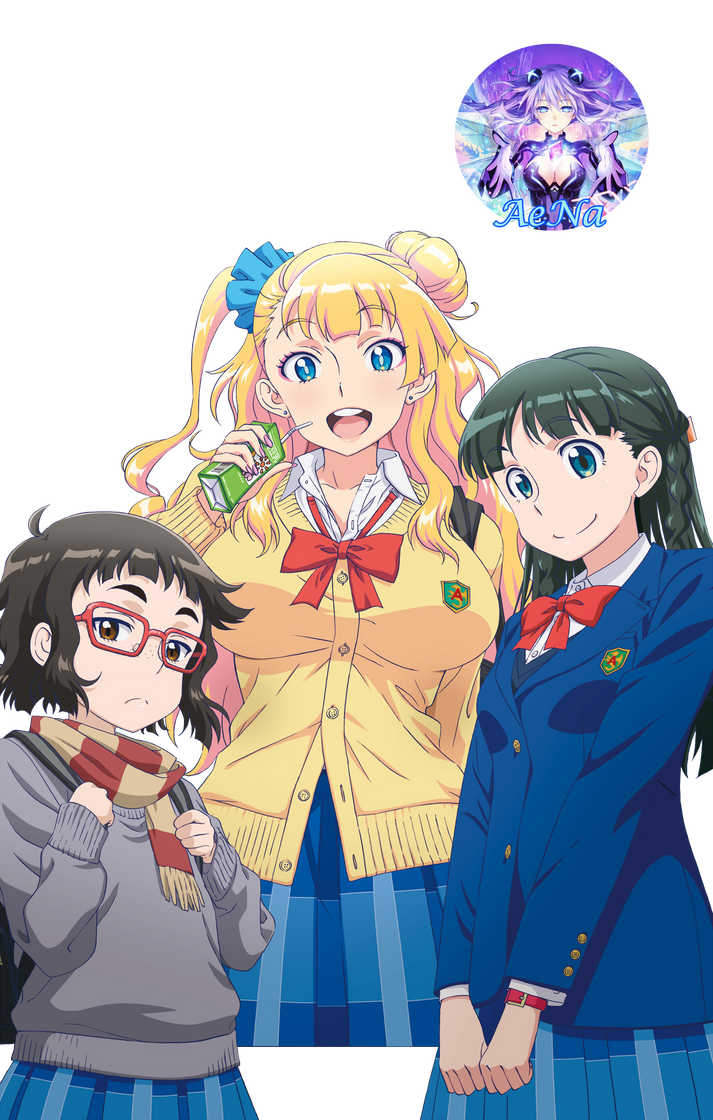Oshiete! Galko-chan 01 Render by AeNa34