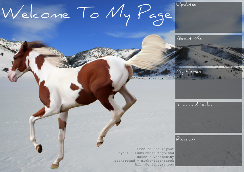 Howrse Layout 6 by PandaMao Images - Frompo  Layout
