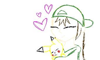 Contest: Chloe and pikachu (sketch) by Fanta-is-fun