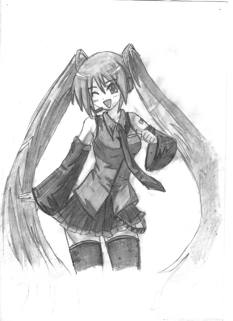 Hatsune Miku drawing by glad0s98