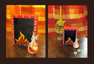 I built this fireplace with my bare hands... by velilein