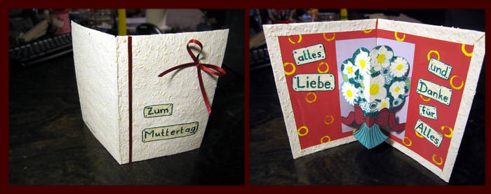Mother's Day Card - handmade by velilein