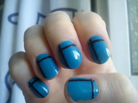 Nail Blue BlackCross