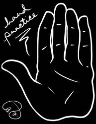 Black and White Hand Practice