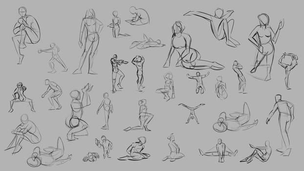Drawing Practice posing selection