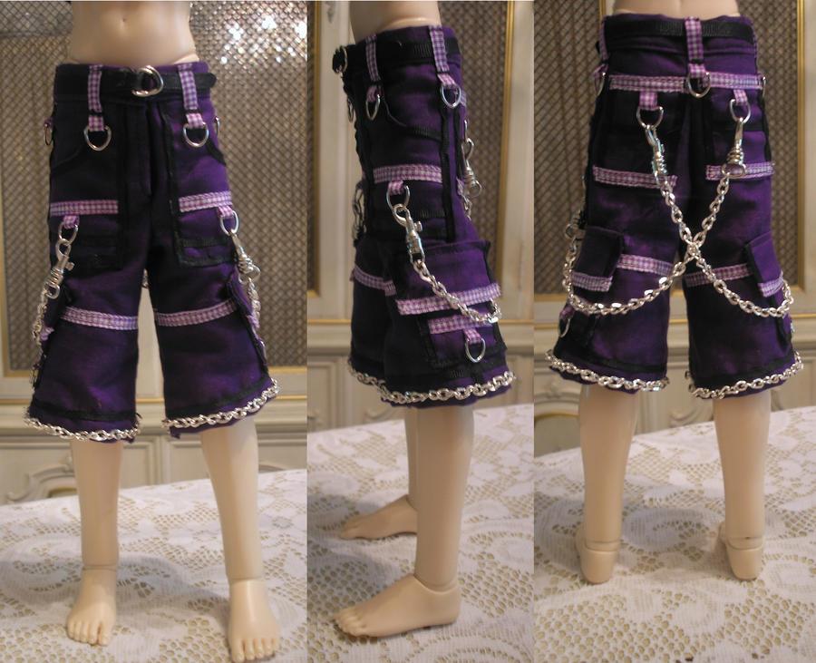 Purple BJD Tripp Shorts by ArienDragon