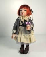 Little Goth Girl by rosannasart