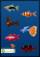 Game Assets Fish by allyabbas