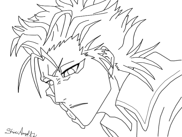 Bleach grimmjow coloring pages coloring pages for Bleach color pages