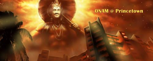 Maveli - Onam Stage Backdrop by AMKumar72