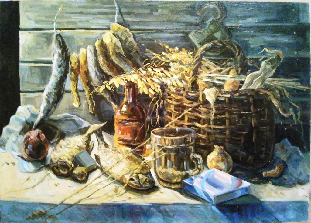 still life with fish by aleksandvagne
